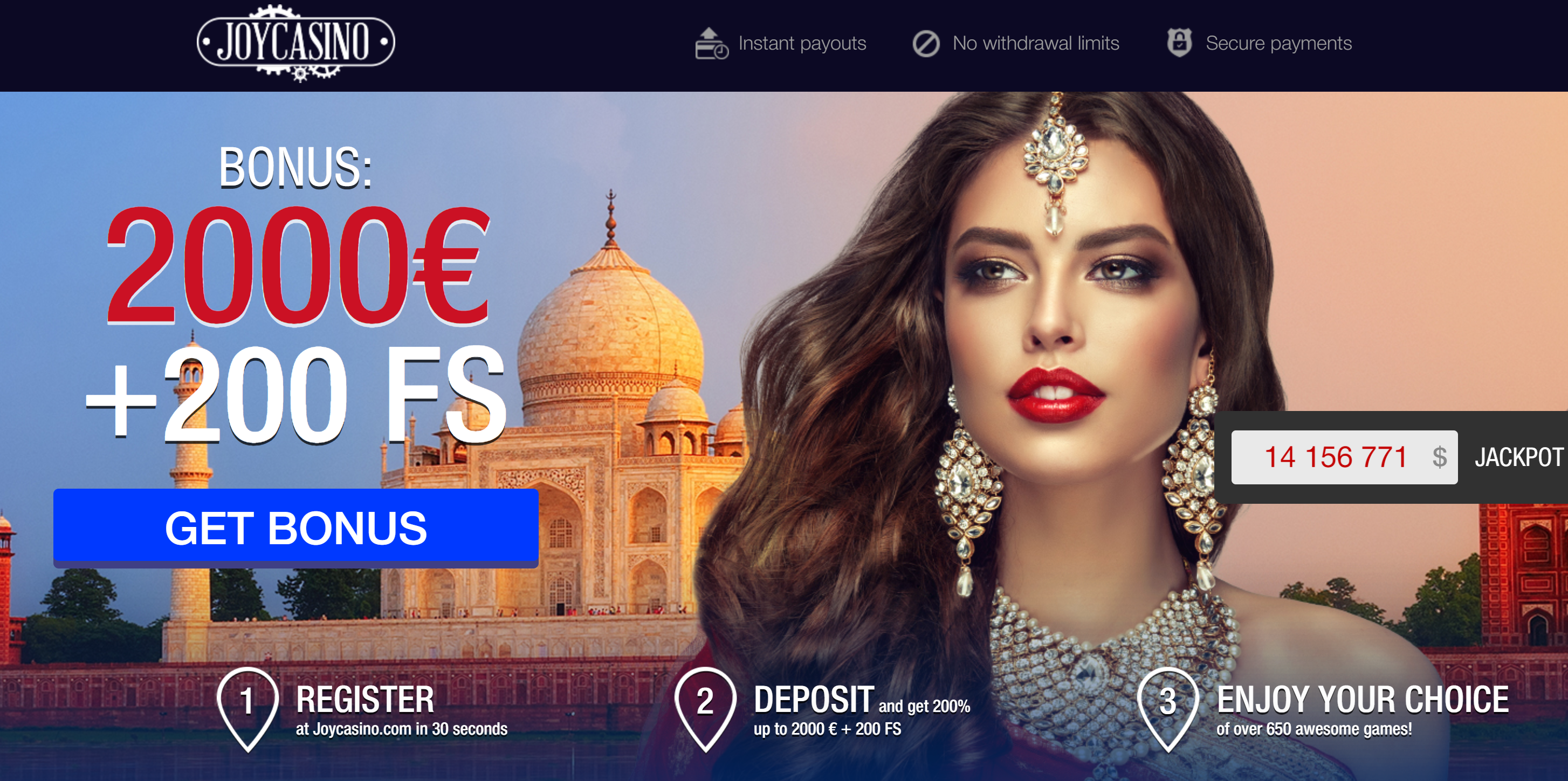 joy casino welcome offer